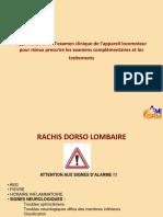 Examen Clinique Rachis Dorso Lombaire