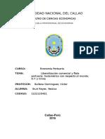 Liberalización comercial y flota portuaria