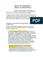 Medidas de Seguridad Imprescindibles en Wordpress