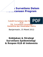 Banjarmasin_Peran Surveilans Dalam Perencanaan Program