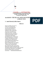 2 Sesión - The Black Arts Movement Poems. a Selection