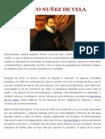 Biografia -Blasco Nuñez de Vela