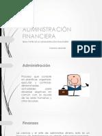Clase 1 Administracion Financiera
