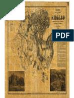 Mapa Del Estado de Hidalgo - 1869