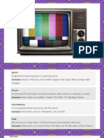 Types of Tv Shows