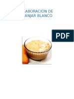 Informe Elaboracion de Manjar Blanco