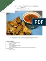Salsa Picante Para Alitas de Pollo