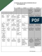 288729035 Rencana Bulanan Kepala Ruang Melati Periode Bulan September 2012