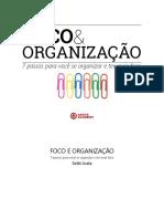 Mini Livro 7 Minutos Foco e Organizacao Arata Academy