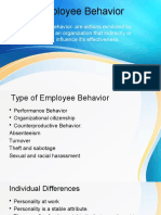 Employee Behavior