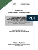 Informe Final Auditoria Expres Casa Del Adulto Mayor La Virginia
