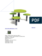 Table and Chair Set for Public Spaces