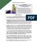 Tarun Das CV for Professor- Public Policy