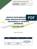 Manual de Elaboracion de TESIS Ujcm