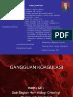 Ganguan Koagulasi(x)