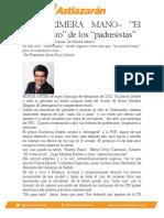 """–DE PRIMERA MANO– """"El mundo raro"""" de los """"padresistas"""""""