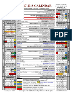 2017-18 academic calendar
