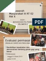 Musyawarah Masyarakat III RT 02 RW X