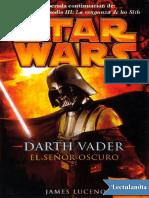 Darth Vader, El Senor Oscuro - James Luceno
