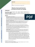 Left Hemisphere Diffusivity of the Arcuate Fasciculus