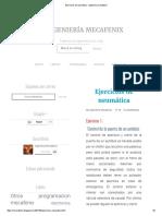 Ejercicios de Neumática - Ingeniería Mecafenix