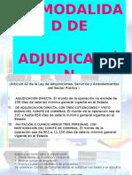 Modalidad de Adjudicación (1)