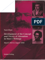 Nasir Khan-Development of the Concept and Theory of Alienation in Marx's Writings-Solum Forlag (1995)