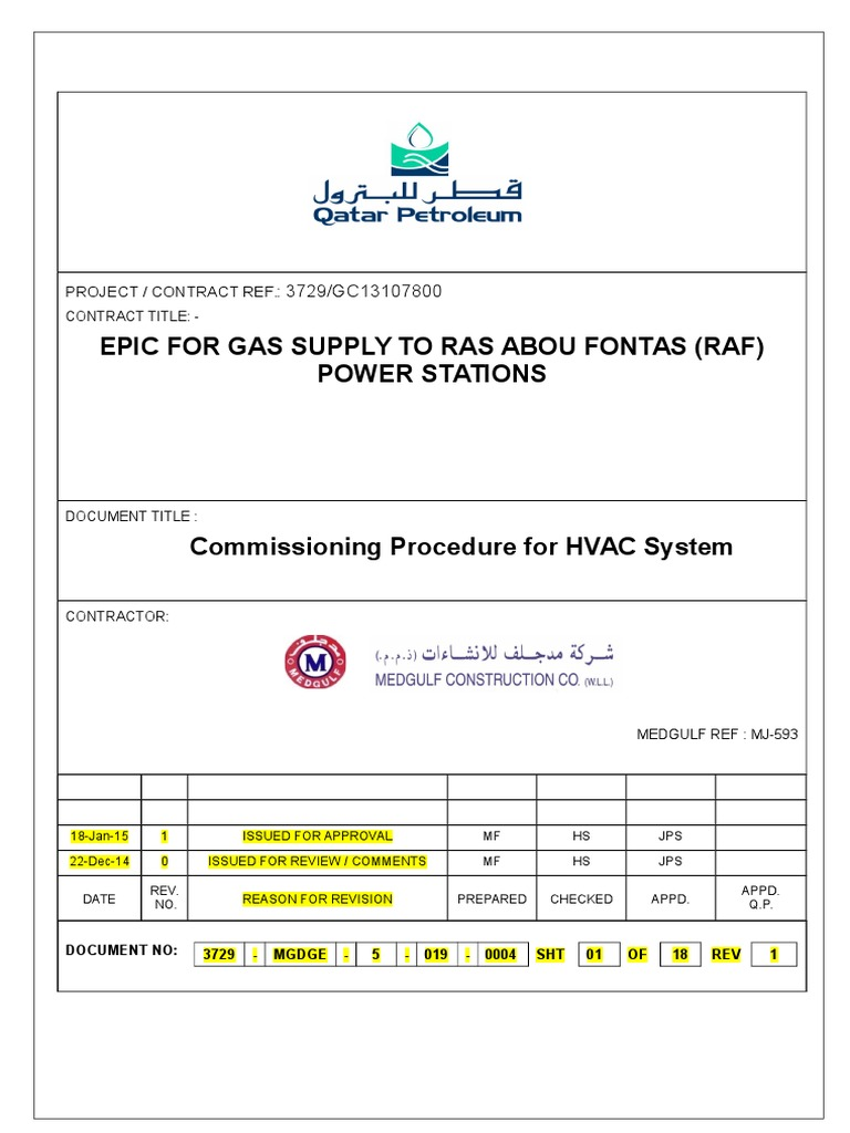 Commissioning procedure for hvac system qp24 02 duct flow hvac pooptronica Gallery