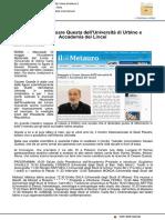 L'omaggio a Cesare Questa dell'Università di Urbino e dell'Accademia dei Lincei - Il Metauro.it, 8 maggio 2017