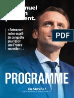 Programme - Emmanuel Macron