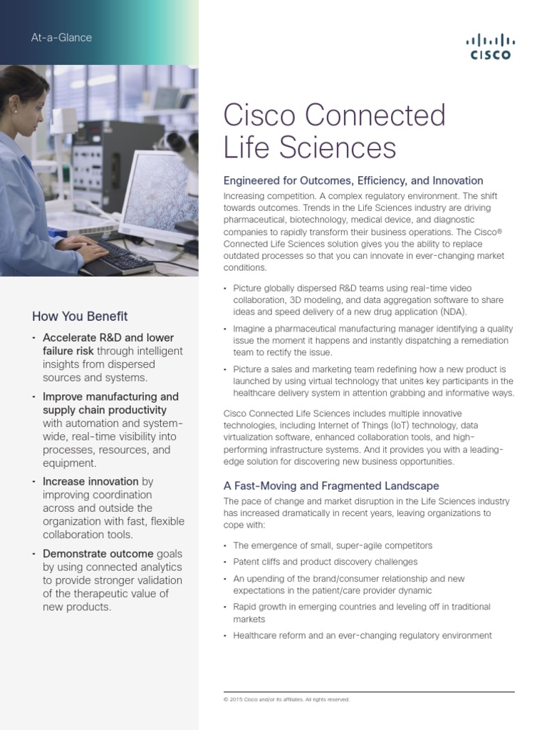 Cisco LifeSciences | Internet Of Things | Cisco Systems