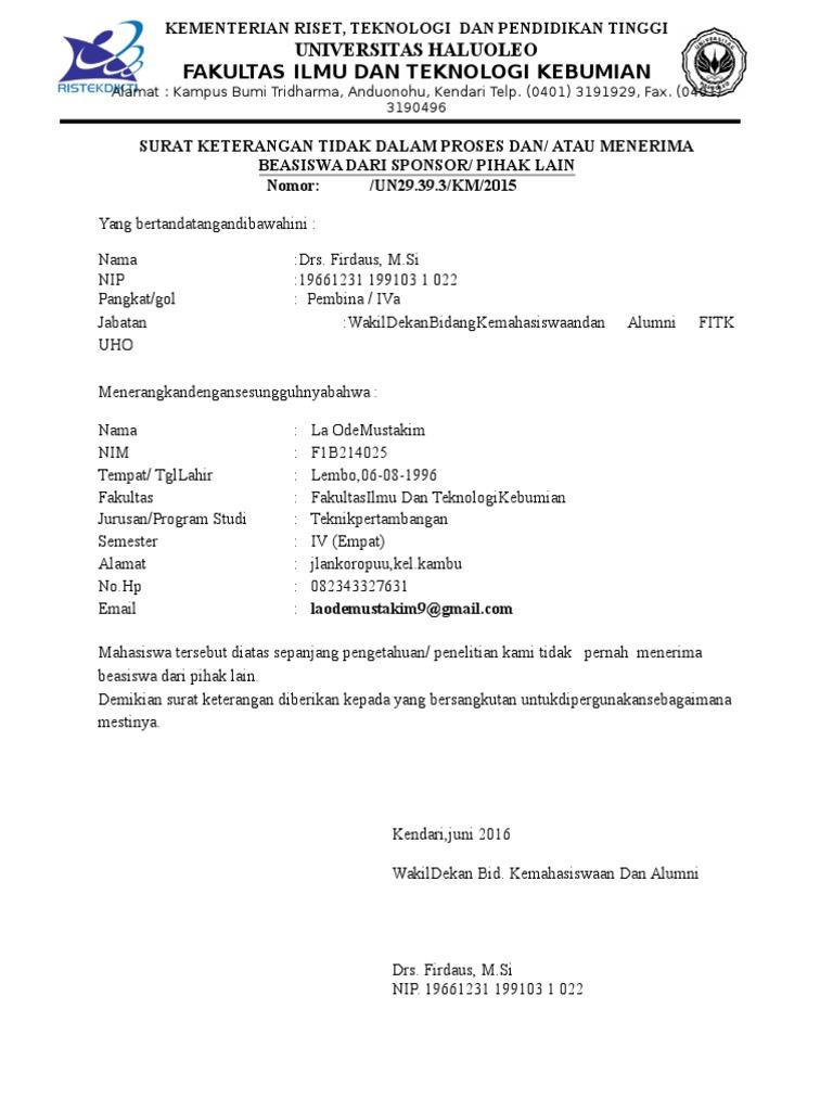 Surat Keterangan Aktif Kuliah Mustakimdocx