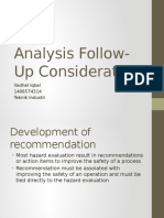 Analysis Follow-Up Consideration