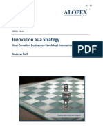 Innovation as Strategy