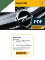 Opel Service - Und Garantieheft (Stand 07.2013)