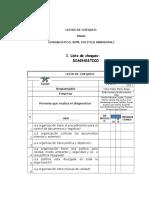 Listas de chequeo diagnostico