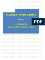 BA:Statistics for Management