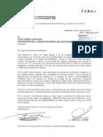 Carta Presidente JNE - Elecciones Vecinales
