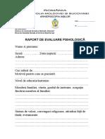 Raport de Evaluare Psihologică