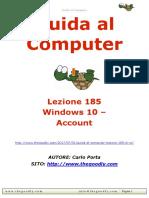 Guida al Computer - Lezione 185 - Windows 10 - Sezione impostazioni