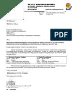Surat Rasmi Permohonan Menggunakan Dewan