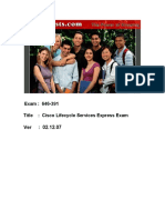ActualTests - Exam 646-391 - Cisco Lifecycle Services Express Exam (19 Pages) - English