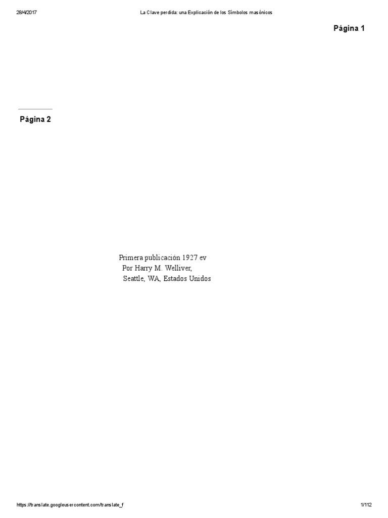 La Clave perdida_ una Explicación de los Símbolos masónicos.pdf