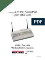 Motorola AP5131 Quick Setup Rev1