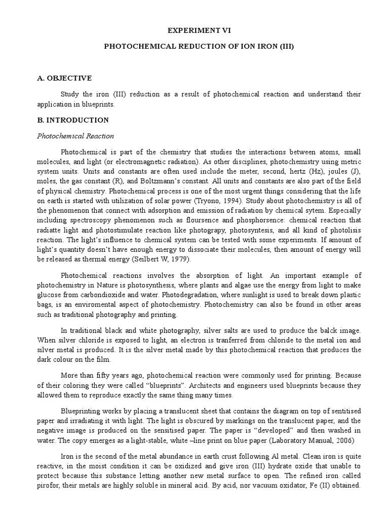 Photochemical reduction of iron iii photochemistry iron malvernweather Choice Image