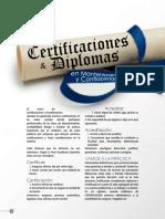 Certificaciones y Diplomas en Mantenimiento y Confiabilidad