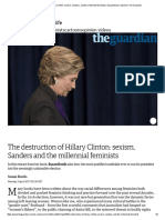 The Destruction of Hillary Clinton_ Sexism, Sanders, And the Millennial Feminists _ Susan Bordo _ Opinion _ the Guardian