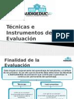 07.1 Técnicas e Instrumentos de Evaluación