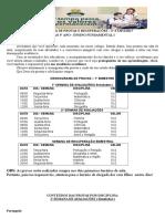 CRONOGRAMA DE PROVAS  - 1 ao 5° ano 2 Bimestre (1)