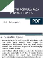 Pembuatan Formula Pada Penyakit Typhus